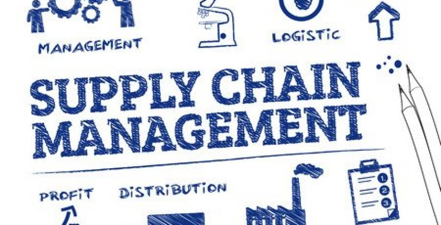 35805667 - supply chain management. chart with keywords and icons